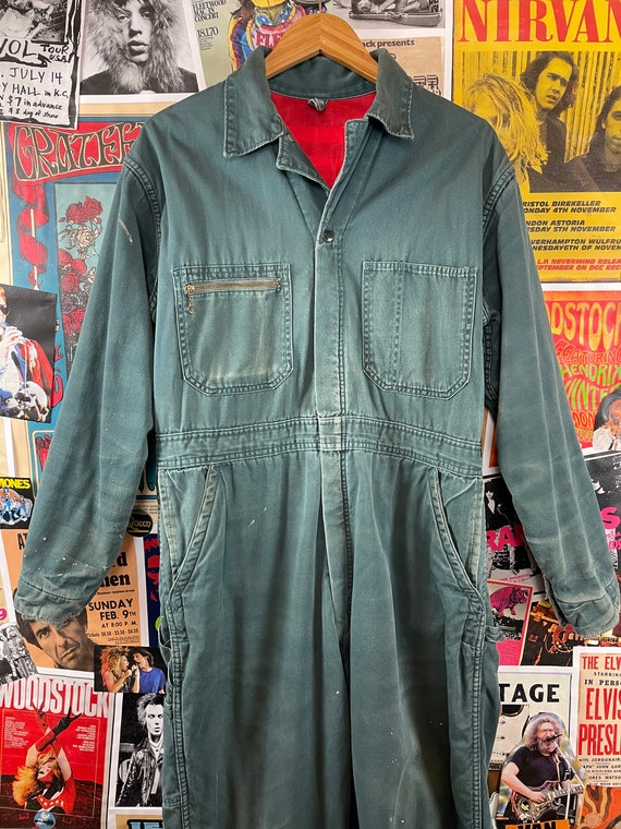 Vintage 1940s-50s Powr House Green Lined Zip Up W… - image 10