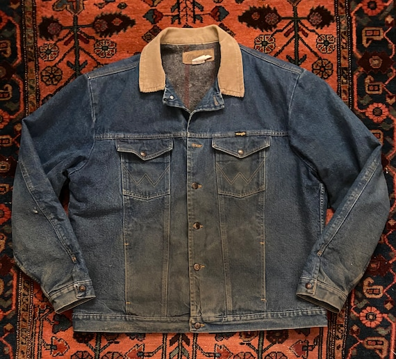 Vintage 1980s Wrangler Workwear Lined Authentic We