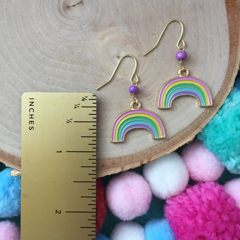 f1be5b43c4dd6 Spring Fling Rainbow Set - Rainbow Necklace -Rainbow Jewelry - Children's  Jewelry -Girl Jewelry-Modern Jewelry-Charm Necklace-Girl Gift