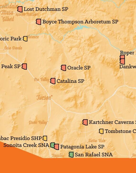 Arizona State Parks Map 11x14 Print on ohio map, missouri map, arizona economy map, arizona college team, az map, texas map, oklahoma map, colorado map, university of washington map, phoenix map, georgia map, arkansas map, tennessee map, utah map, florida map, arizona territory map, new mexico map, wisconsin map, tucson map, usa map,