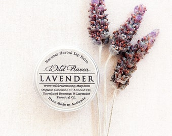Lavender Lip Balm // Handmade with All Natural Herbal Ingredients // Palm Oil Free