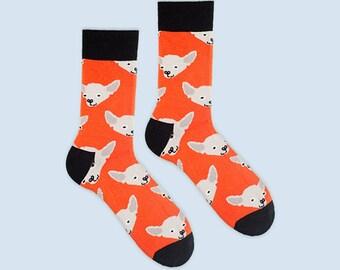 Sweepy Colorful Men Socks. Dog Pattern  Emerald  socks, Chihuahua mens socks. Free delivery!