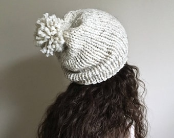 MADE TO ORDER • Chunky Knit Slouchy Hat • Chunky Knit Beanie • Slouchy Winter Hat