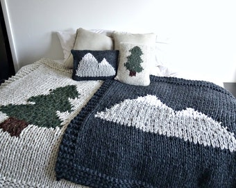 Custom Nature Inspired Bedding Set • Nature Home Decor • Pine Barrens • Smoky Mountains • Pine Tree • Bedding Set