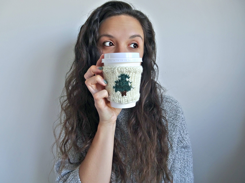 KNITTING PATTERN • Knit Coffee Cozy Sleeve Pattern • Coffee Cozy ...