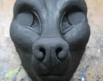 Semi-Realistic Canine Resin Fursuit Head Base