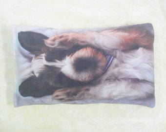 Personalized Cotton Dog Bed Cover with Piping Preshrink 8oz Soft Cotton Canvas