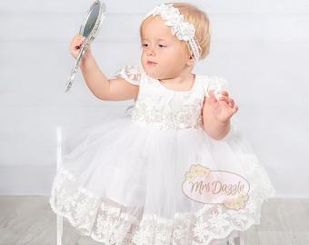 Baptism Dress,Christening Dress,Baptism Lace Dress,Baptism Gown,Christening Gown,Communion Dress,Blessing Dress,Girls Lace Dress,Baby Dress