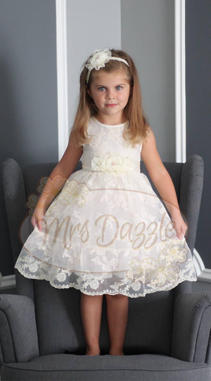 f4f0bb65e1 Sukienka chrzest chrzest Suknia koronkowa Ivory sukienka