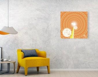 VORTEX - Abstract Art Print on Canvas - Digital Art - Fine Art Print - Vortex Print - Decorative Wall Art