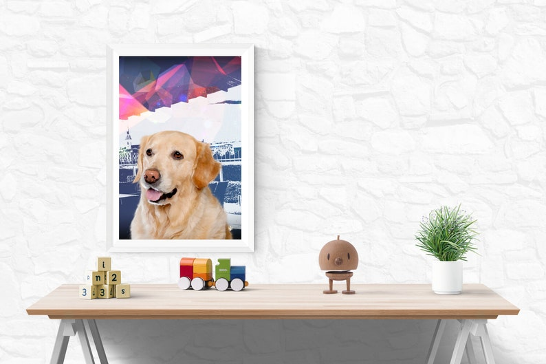 DOG 2  Animal Art  Modern Wall Art image 0