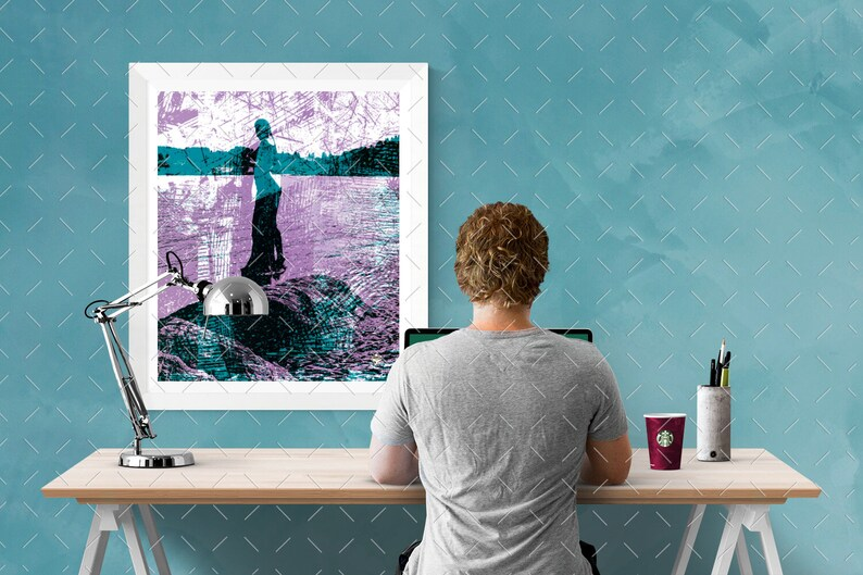 MARMAID  Modern Wall Art  Instant Download image 0
