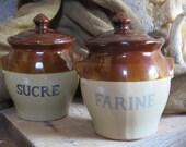 Lot Brown Stoneware Stora...