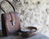 Vintage Alligator Handbag...