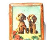 Vintage Dog Tin Box 1950/...