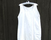 French White Cotton Short...