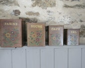 French Set of 4 Vintage W...