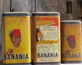 Lot 3 Banania tins/Collec...