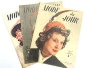 Vintage 40s French Fashio...