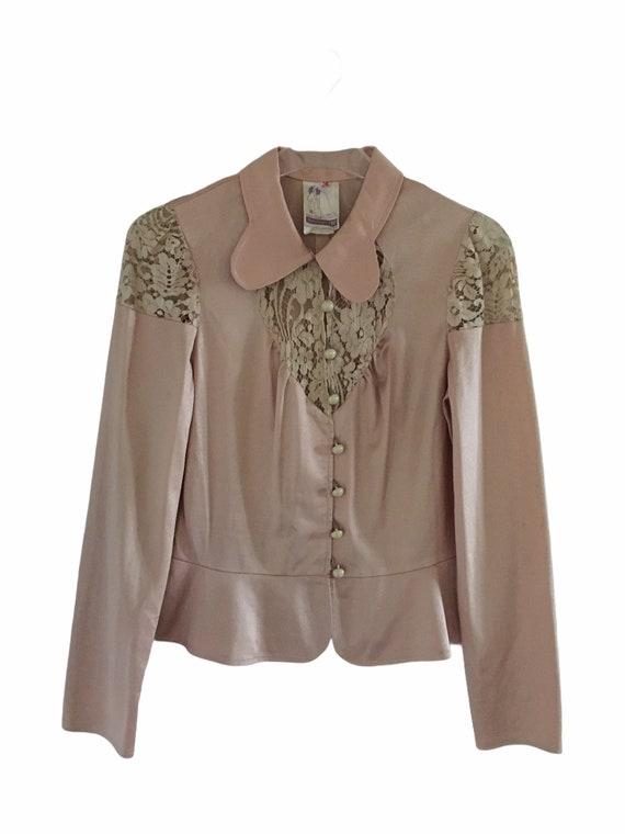 Women's Vintage Lace Prairie Blouse