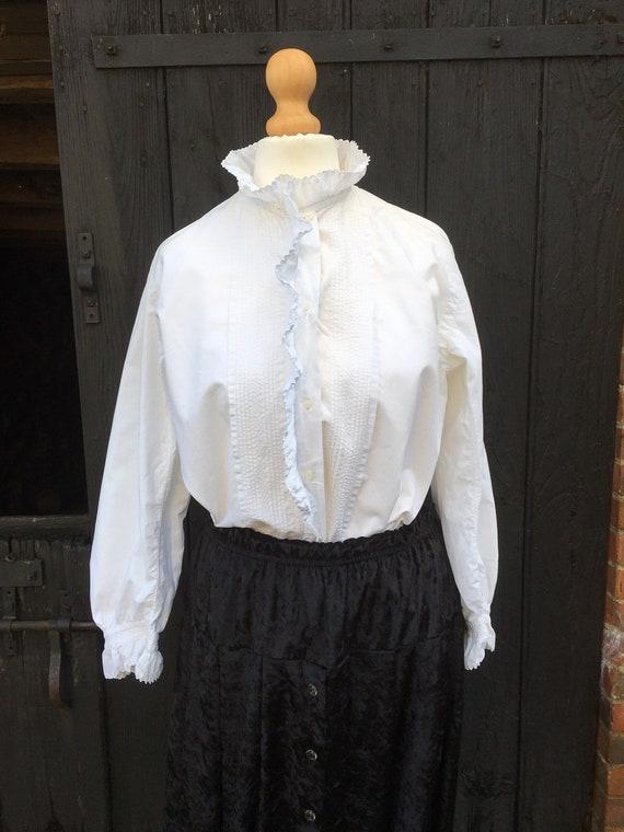 Antique French Cotton Women's Blouse
