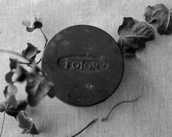 Vintage round box, metal box, round metal tin, keepsake box.