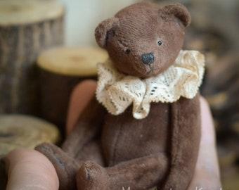 Buch Artist teddy Bear OOAK minibear