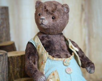 Plushik Artist Teddy Bear 9in OOAK