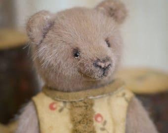 Dina  Artist Bear 4in OOAK nature minibear brown bear miniature by Matvienko