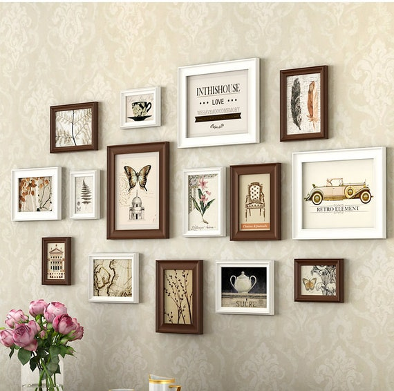 15 Pieces One Set Of Different Size Solid Wood Picture Photo Etsy
