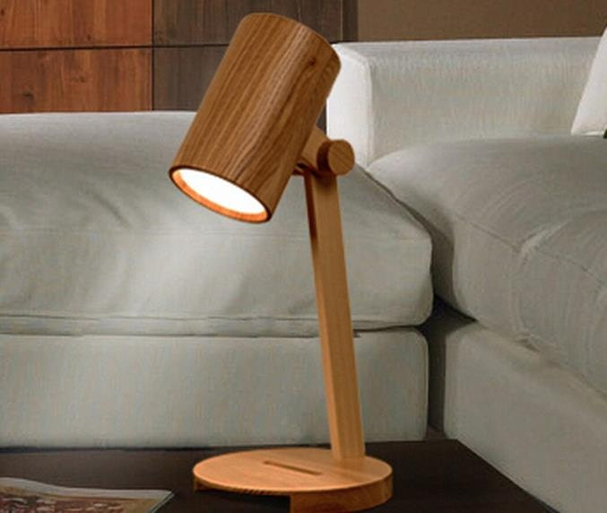Table Lamp Handcrafted Wooden