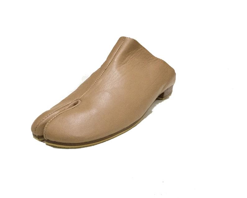 Tabi shoes Tabi mules Ninja shoes split toe mules Pre image 0