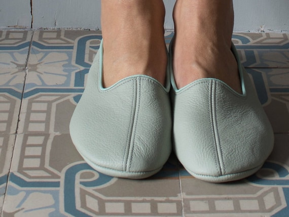 Tabi socks,Glove shoes leather slippers gift for her,leather travel shoes ballet flats
