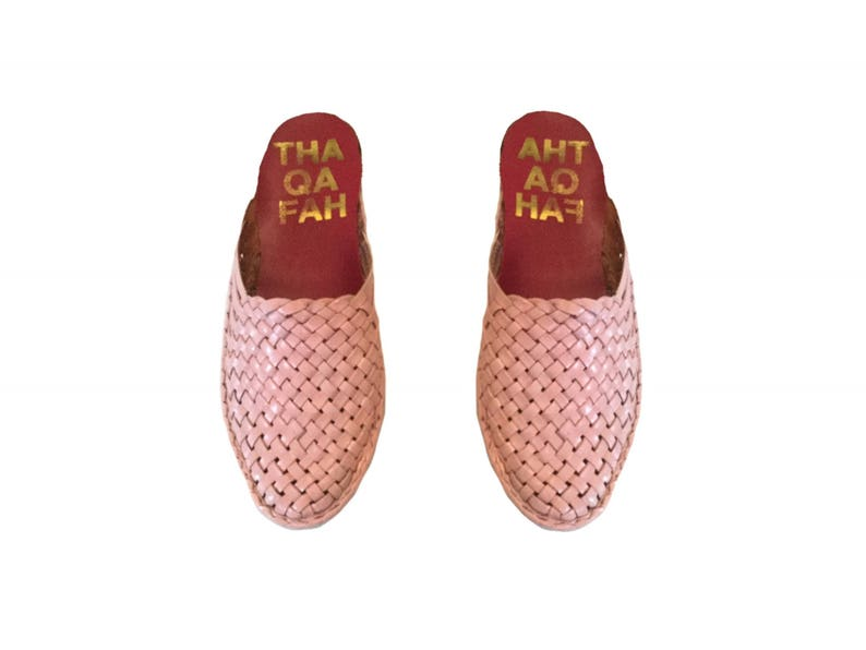65c5b754d1ee6 Handwoven leather mules,mexican huaraches, Woven bohemian Shoes