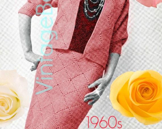 Skirt Crochet Pattern • Vintage 1960s Jacket Crochet Pattern • Suit Crochet Pattern • Dress Crochet Pattern • Instant Download • PDF Pattern