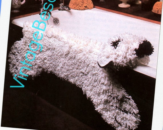 Polar Bear Rug CROCHET PATTERN with Flat or Stuffed Head Fun Fake Fur Rug Pattern Bear Rug Pattern • Watermarked PDF Only