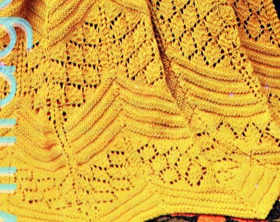 Afghan Knitting Pattern • Vintage 1960s Chevron Lace KNITTING Pattern • Afghan Pattern • Watermarked PDF Only