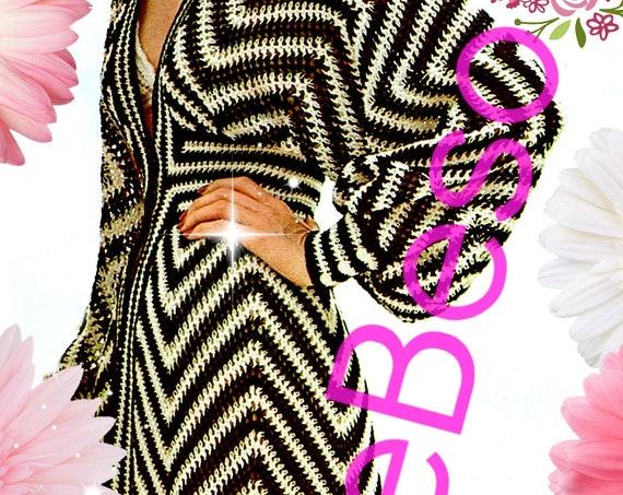Waist Fitting Maxi Dress Crochet Pattern • Vintage 1970s Dress • Caftan • Bohemian Clothing • Boho • Bikini COVERUP • Watermarked PDF Only