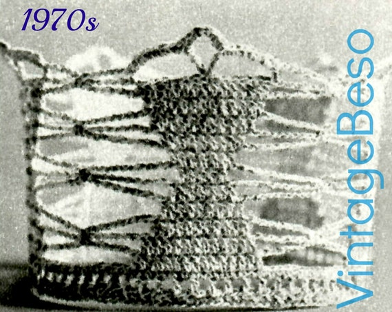 Coronet Brides Hour Glass Vintage Crochet Pattern Tiara 1970s Wedding Keepsake Bridal Shower Cupcake + FReE PAttERN • Watermarked PDF Only