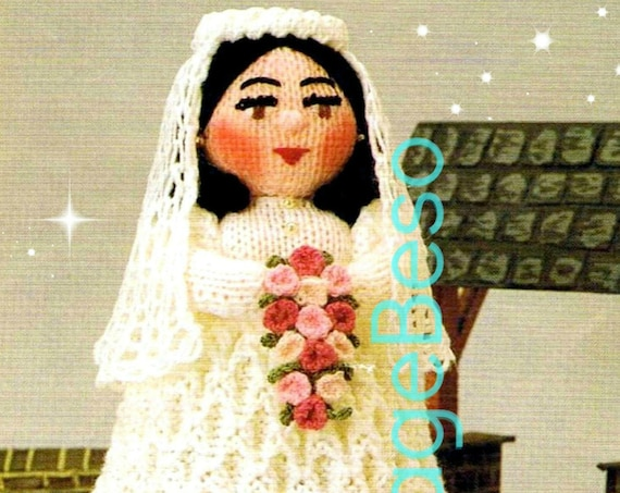 THE BRIDE Knitting Pattern • Instant Download • Pdf • Vintage Knitting Pattern • Wedding Toy Doll • Vintage Beso Knitting Pattern
