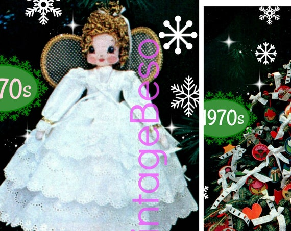 Christmas Angel for Top of the Tree + 6 Easy to Make Fabric Ornaments in Variations • SEW Patterns • Fun Fabric Xmas • Watermarked PDF Only