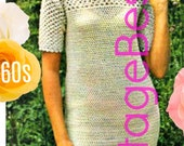 Ladies Crochet Dress Pattern Digital Pattern Vintage 1960s Crochet Dress VintageBeso PDF Pattern PDF Pattern