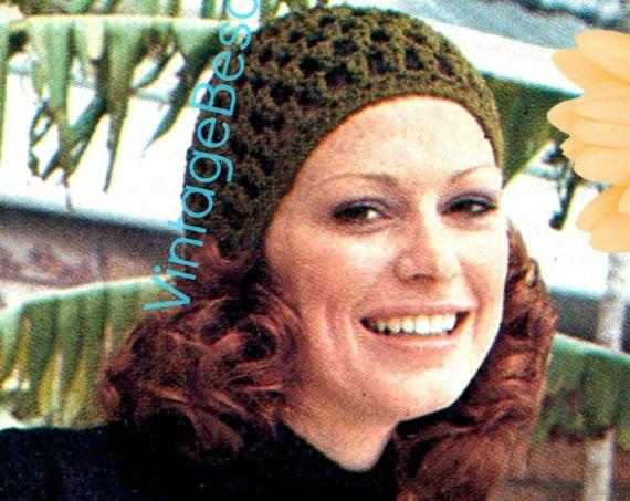 Cap + Skirt Crochet Pattern • 1970s Granny Square Motif Crochet Pattern • Digital Download • INSTANT Download • PdF