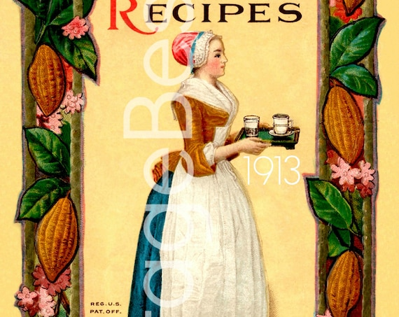 Chocolate and Cocoa Recipes by Miss Parloa Home Made Candy Recipes by Mrs Janet McKenzie Hill Compliments Walter Baker Watermarked PDF Only