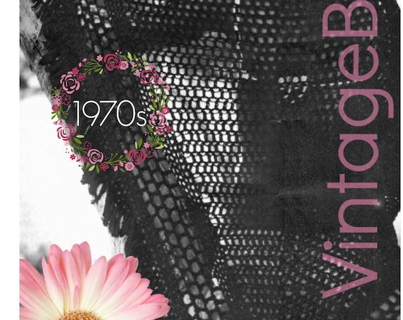 Shawl Crochet Pattern • Vintage 1970s • Summer • Bikini Coverup • Windy Day Wrap • Triangle • Beachy Crochet Pattern • Watermarked PDF Only