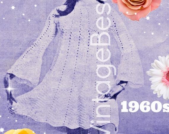 1960s Flared Dress Crochet Pattern • Summer Dress • Vintage Pattern • Vintage Ladies Sexy Zig Zag Chevron Dress • Watermarked PDF Only