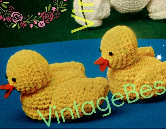 Baby Ducks • Bunny Crochet Pattern • Vintage 1970s Tulip Flower • Easter Eggs • Weaved Basket • Soft Toys • PDF Pattern • Digital Download