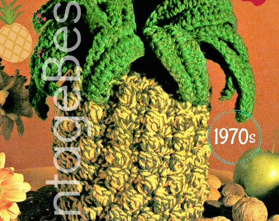 EASY to Make • Pineapple Crochet Pattern • 1970s Toy Crochet Pattern • Party Summer • Summer Wedding • Instant Download • PDF • Digitial