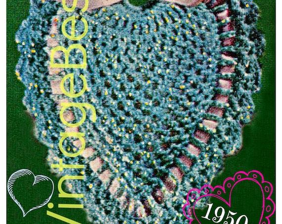 Heart CROCHET Pattern • Retro 1950s Pin Cushion • PDF Pattern • Vintage Valentine's Day • Digital Pattern • Home • Gift • PDF Only