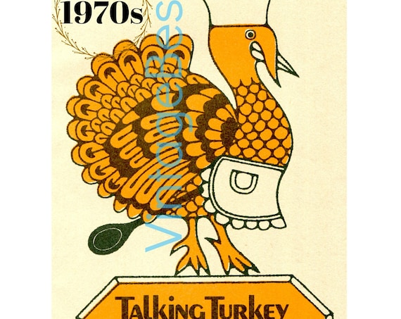 23+ Recipes • Vintage RECIPES • Turkey Talk with All Questions Answered and More • 1970s Thanksgiving Dinner • Collector's Cook Book • PDF